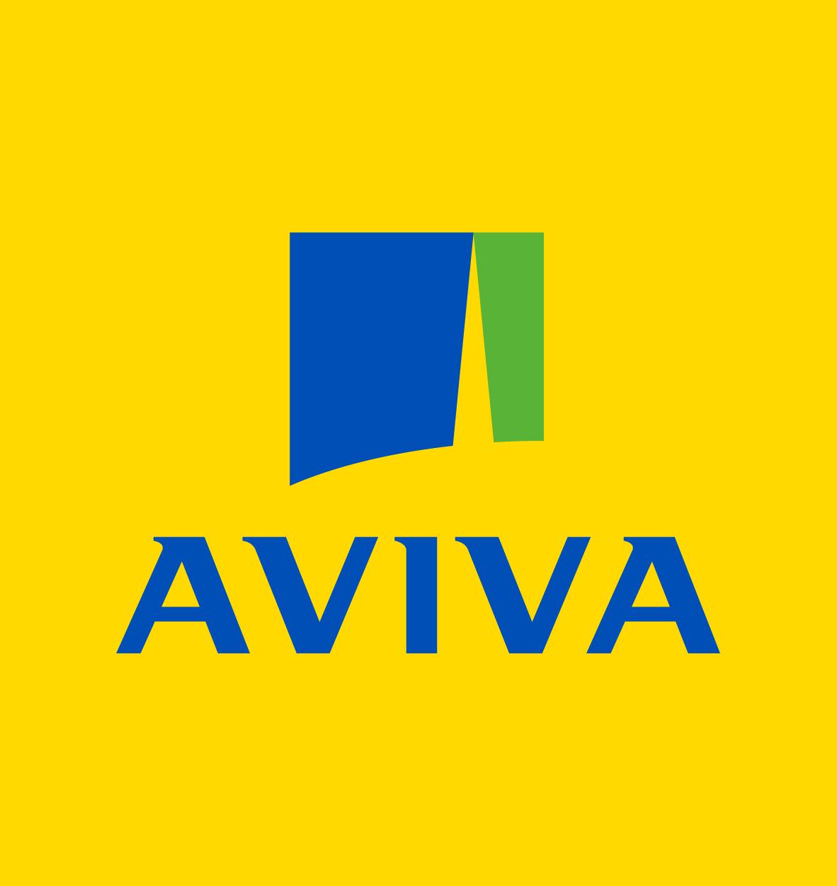 Aviva Primary Logo - fond jaune